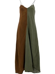 Song For The Mute Colour Block Maxi Dress Brown