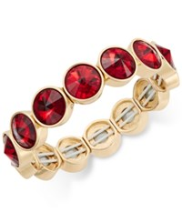 Charter Club Bezel Set Crystal Stretch Bracelet Only At Macy's Red Gold