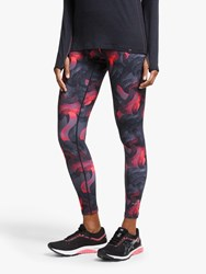 Ronhill Momentum Running Tights Hot Pink Wave