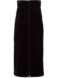 Andrea Incontri Front Zip Skirt Red
