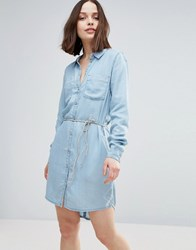Only Henna Denim Shirt Dress Light Blue Denim