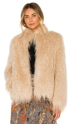 House Of Harlow 1960 X Revolve Solaire Faux Fur Jacket In Cream. Natural