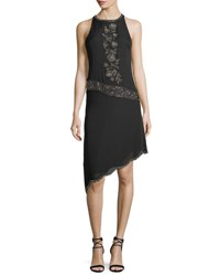 294ed001f49 Haute Hippie Mojave Desert Embellished Asymmetric Cocktail Dress Black