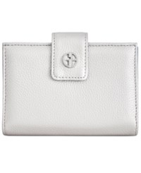 Giani Bernini Softy Framed Wallet Created For Macy's Silver Chambray