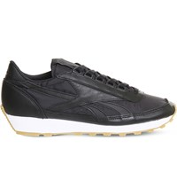 Reebok Aztec Og Leather And Nylon Trainers Black White Gum