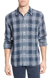 True Grit Men's Indigo Plaid Sport Shirt