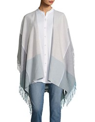 Eileen Fisher Fringe Trimmed Poncho