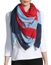 Max Mara Graphic Printed Neck Scarf Ultramarine Multi