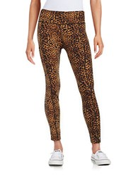 Betsey Johnson Animal Print Athletic Pants Crazy Camo