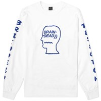 Brain Dead Long Sleeve Vehicle Tee White