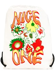 Stella Mccartney Nice One Print Backpack White