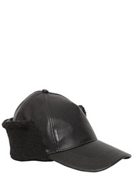 Cheap Monday Faux Leather Hat W Faux Shearling Flaps