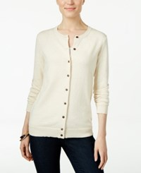 Karen Scott Long Sleeve Cardigan Only At Macy's Oatmeal Heather