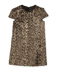 Milly Minis Chloe Sequin Dress Gold