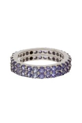 Sterling Silver Tanzanite Stackable Ring Set Metallic