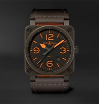 Bell And Ross Br 03 92 Ma 1 Limited Edition Automatic 42Mm Ceramic Leather Watch Green
