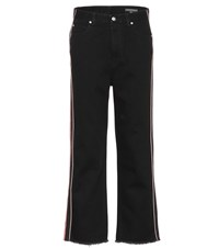 Alexander Mcqueen High Waisted Cropped Jeans Black