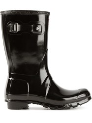 Hunter Patent Wellington Boots Black