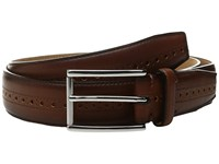 Cole Haan 32Mm Stitched Edge Belt With Perforated And Hand Burnished Detail British Tan Men's Belts