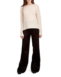 Halston Heritage Cowl Back Cashmere Sweater Champagne