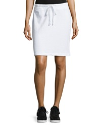 James Perse Drawstring Fleece Skirt White