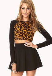 Forever 21 Untamed Leopard Crop Top