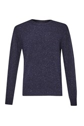French Connection Men's Fleck Rpm Knit Jumper Blue