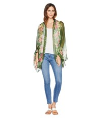 Collection Xiix Tropical Orchid Wrap Olive Clothing