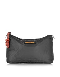 Dsquared Hiro Black Nylon Clutch