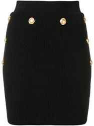Balmain Knitted Mini Skirt Black