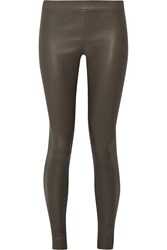 Vince Leather Leggings Gray