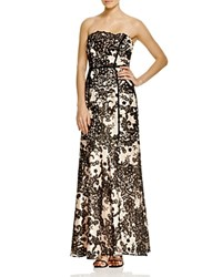 Decode 1.8 Strapless Lace Gown Black Nude