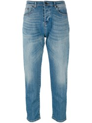 N 21 No21 Faded Cropped Jeans Blue