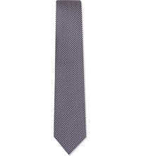 Gieves And Hawkes Squares Silk Tie Navy