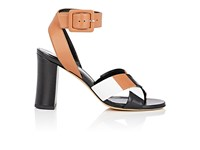 Derek Lam Women's Alibi Crisscross Strap Leather Sandals Tan Black White Brown Tan Black White Brown