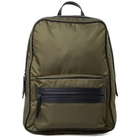 Maison Martin Margiela 11 Leather Trim Nylon Backpack Green