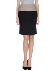 Les Copains Knee Length Skirts Black