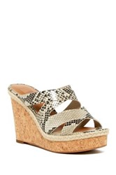 14Th And Union Reese Wedge Sandal Beige