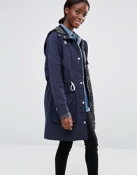 Parka London Dana Lightweight Jacket Indigo Blue