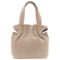 Reiss Cassius Suede And Metal Tote Bag Natural