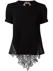 N 21 No21 Open Back Knitted Top Black