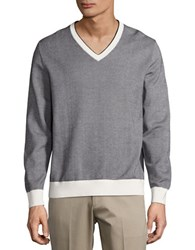 Brooks Brothers Long Sleeve Textured Cotton Pullover Blue