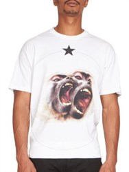 Givenchy Monkey Brothers Cotton Tee White