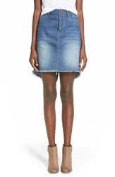 Fire Deconstructed Denim Skirt Indigo Seattle Wash