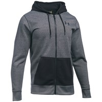 Under Armour Storm Rival Fleece Patterned Full Zip Hoodie Black