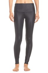 Onzie Women's High Waist Leggings Shiny Black