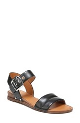 Sarto By Franco Sarto 'S Patterson Low Wedge Sandal Black Leather