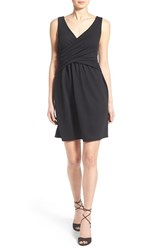 Women's Painted Threads Crossover Bodice Skater Dress