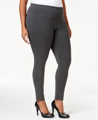 Styleandco. Style Co. Plus Size Rhinestone Embellished Leggings Only At Macy's Charcoal Heather