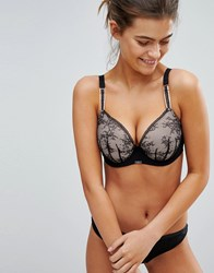 Ultimo Myriam Plunge Lace Fuller Bust Bra Dd G Cup Black